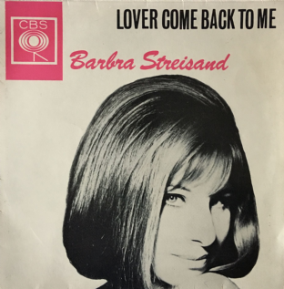 "Barbra Streisand ‎- Lover Come Back To Me EP  (7"")  (EX/VG+)"